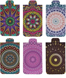 Heartzy Set of 6 Cute Chakra Mandala Magnetic Bookmark Combo | Gift for Booklovers