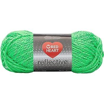 RED HEART Reflective Yarn, Neon Green