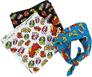 Fun Express - Super Hero Bandanas - Apparel Accessories - Hats - Bandannas - 12 Pieces