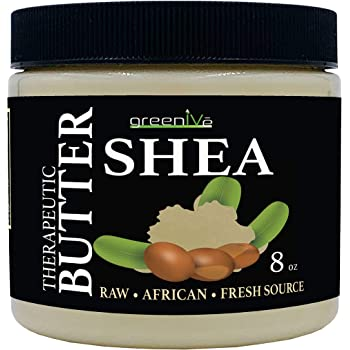 GreenIVe - 100% Pure Shea Butter - Raw - Exclusively on Amazon (8 Ounce Jar)