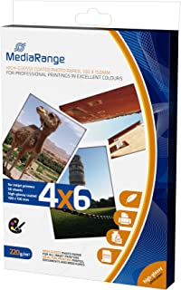 MediaRange MRINK104 Photo Paper 10x15cm White 50 Sheets 220gr Gloss