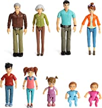 Sweet Li'l Family Set Dollhouse Figures 9 Action Figurines- Grandpa, Grandma, Mom, Dad, Sister, Brother, Toddler, Twin Boy...