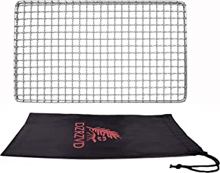 DZRZVD-The Bushcraft Backpacker's Grill Grate - Welded Stainless Steel Mesh (Camping Fire Rated)