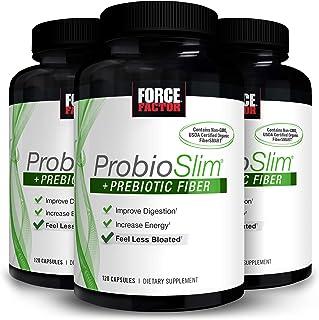 Force Factor ProbioSlim + Prebiotic Fiber for Women and Men, Probiotic and Prebiotic Digestive Health Support Supplement w...