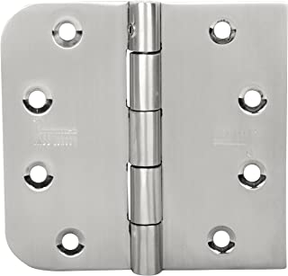 4 INCH BARN Door Hinges 3 PCS. Stainless Steel Security PIN Hinges Satin Finish 404025SR-SP-32D 5/8 Radius/Square Heavy Duty Designed for All Types of Door
