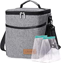 Lifewit Lunch Box for Adult 9L Insulated Large Lunch Bag Leakproof Thermal Bento Bag for Work, Grey