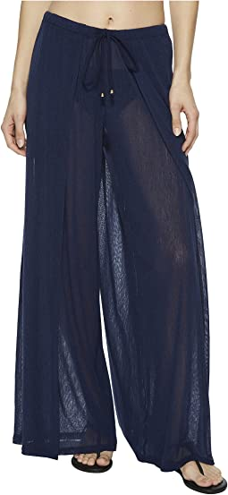 Francesca Wide Leg Front Slit Pant Cover-Up
