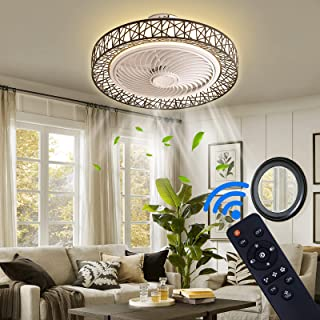 Modern Ceiling Fan With Lights, 20 in Remote Control...