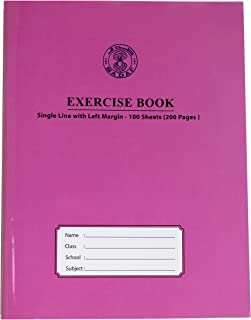 SADAF EXERCISE BOOK A5 SIZE SINGLE LINE WITH LEFT MARGIN 100 SHEETS (200PAGES)