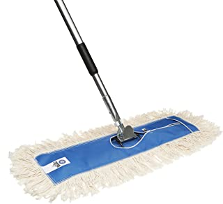 Nine Forty USA 18 Inch Commercial Cotton Dry Dust Mop Head Hardwood Floor Duster Broom Set | Handle