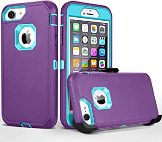 iPhone 8 case,iPhone 7 Case, iPhone 6s Case, FOGEEK [No Screen Protector] Belt-Clip Protective Heavy Duty Kickstand Cover [Shockproof] Cover Compatible for iPhone 8/7/6/6s (NOT PLUS) (purple and blue)