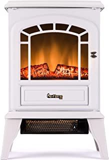 e-Flame USA Aspen Free Standing Electric Fireplace White