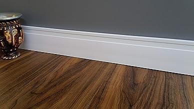 Kit 10 barras Rodapé Poliestireno 10 cm altura Guarnição Frisado Branco barra com 2,40M RF100