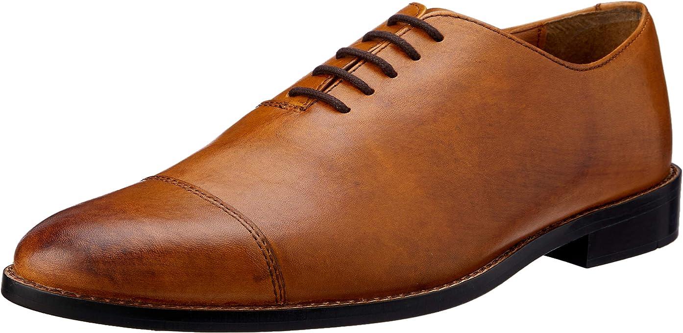 Van Heusen Men's Oxford Plain Brouge; Mens Shoes; Leather Shoes