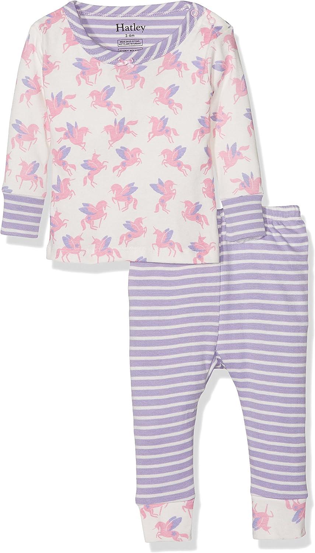 Hatley Baby Girls Mini Organic Cotton Long Sleeve Pyjama Sets