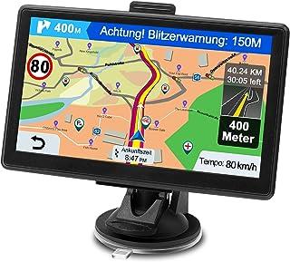 Nawigacja GPS do samochodu, nawigacja do samochodów osobowych i ciężarowych, 7 cali, dożywotnia bezpłatna aktualizacja ma...