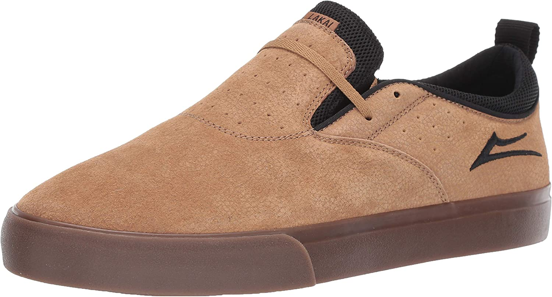 Lakai Footwear Riley 2 Tobacco Syn. Nubucksize Tennis shoes, Tobacco Synthetic Nubuck