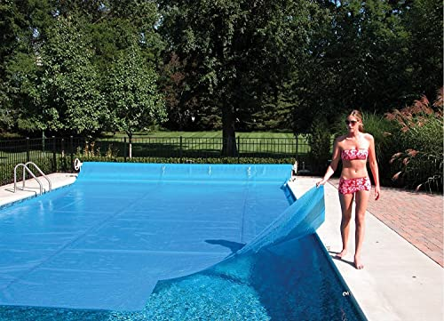 Sun2Solar Blue 8-Foot-by-8-Foot Square Solar Cover | 1600 Series Style | Heating Blanket for In-Ground and Above-Ground Square Swimming Pools and Spas | Use Sun to Heat Pool | Face Bubble-Side Down