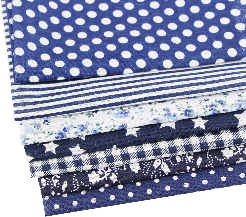 Rose aufodara Tissus Coton 7 pi/èces 50 x 50 cm Imprime Textile Patchwork Chiffons Couture Quilting DIY Fabric /à la Main en Tissu /à Coudre Sewing Artisanat
