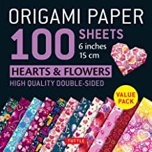 Publishing, T: Origami Paper 100 Sheets Hearts & Flowers 6&q: Tuttle Origami Paper: High-Quality Double-Sided Origami Shee...