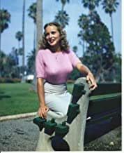 Young Janet Leigh in tight pink sweater 8x10 Sexy Photo