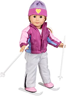 Dress Along Dolly Skiing Winter Doll Outfit for American Girl & 18