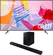 "Samsung QN65Q60TA 65"" Ultra High Definition 4K Quantum HDR Smart QLED TV with a Samsung HW-T650 Bluetooth Soundbar with Do..."