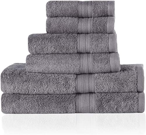 Trends Alley Bourgeois – Luxury, 100% Combed Cotton Towel Set (6 Pieces, 4 Colours), Includes 2 Face Towels, 2 Hand T...