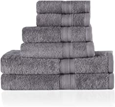 Trends Alley Bourgeois – Luxury, 100% Combed Cotton Towel Set (6 Pieces, 4 Colours), Includes 2 Face Towels, 2 Hand Towels...