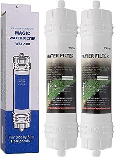 Magic Water Filter WSF-100 | Lot de 2 - Filtre à Eau pour réfrigérateur Samsung - Cartouche filtrante Externe pour frigo a...