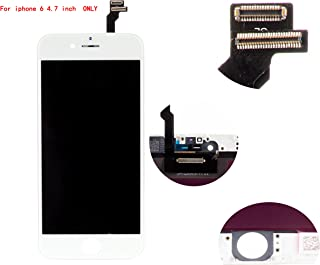 Front Glass LCD Screen Replacement Digitizer Assembly Frame Full Set Display Touchscreen for iPhone 6 4.7 Inches White