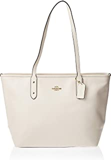 Women's Crossgrain Leather City Zip Tote