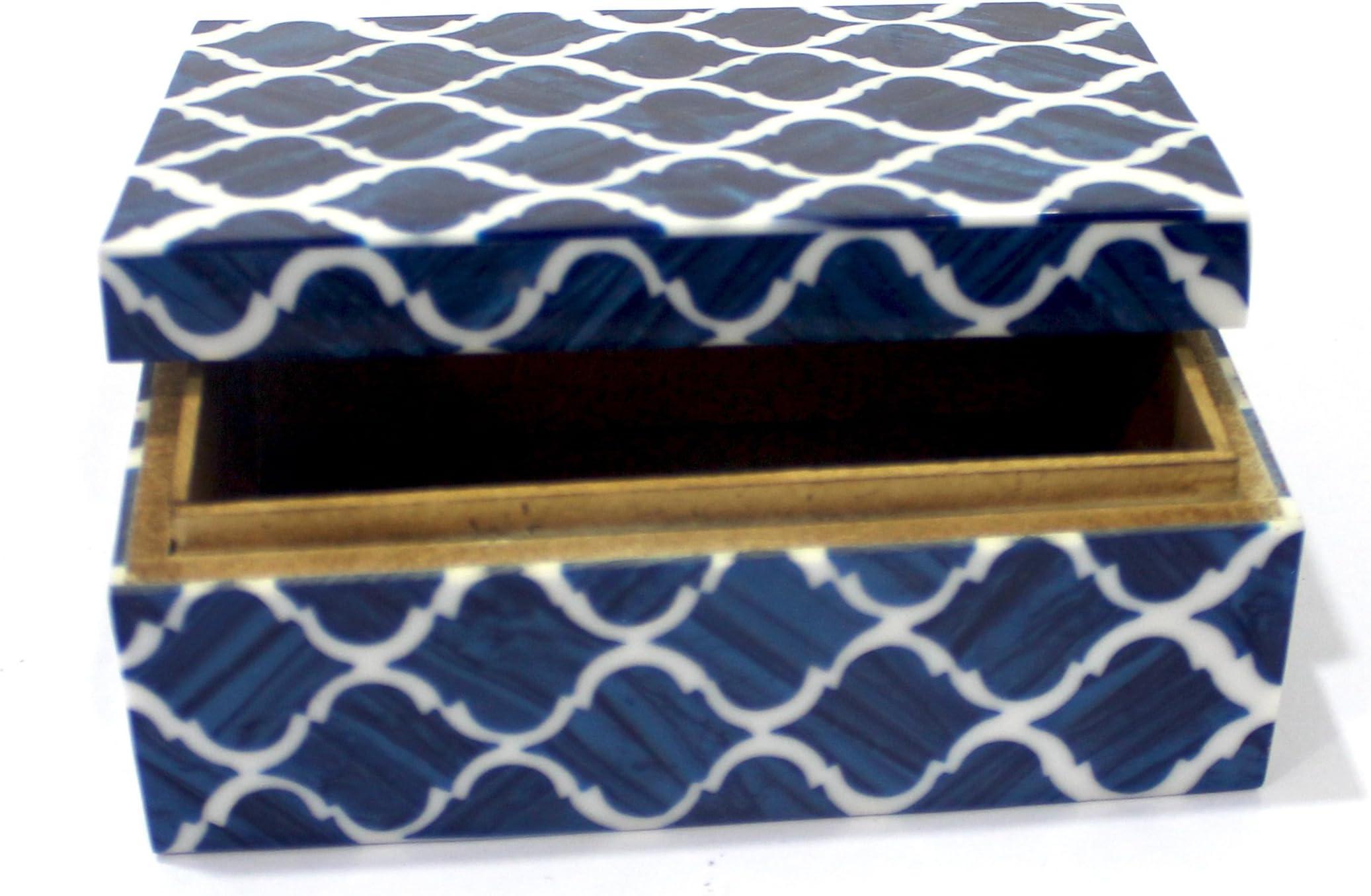 Handmade Bone Horn  Gifts Box Modern Jewelry Gifts Box Unique Antique Box Smart Black and White Storage Box