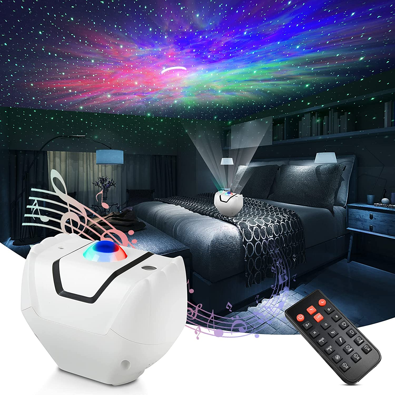 Star Projector, Galaxy Projector with Remote Control, 3 in 1 Night Light, Led Nebula Cloud Galaxy Starry Projector for Baby Kids Adult, Party/Car/Bedroom Decor for Teen Girls