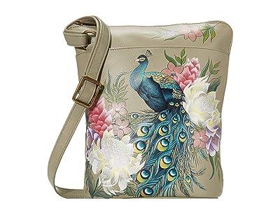 Anuschka Handbags Two Sided Zip Travel Organizer 493 (Regal Peacock) Cross Body Handbags
