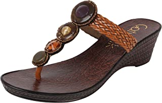 Catwalk Brown Slip-on Sandals