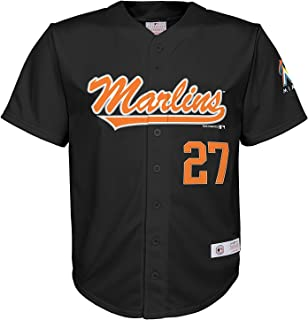 Outerstuff Giancarlo Stanton Miami Marlins #27 Black Youth Player Fashion Jersey