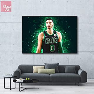 GoGoArt ROLL Canvas Print Wall Art Photo Big Picture Poster Decor (no Framed no Stretched not Oil Painting) Jayson Tatum Boston Celtics NBA All Star MVP Basketball Sport Art A-0161-1.5 (24 x 36 inch)