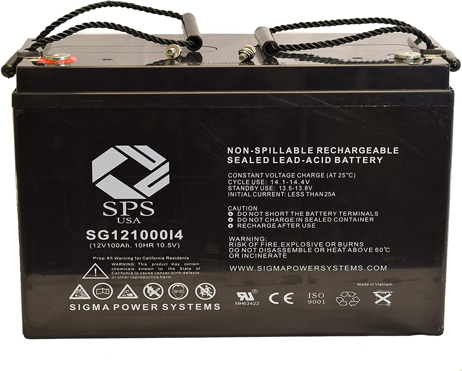 shipfree SPS Brand Max 60% OFF 12V 100Ah Replacement P20397 Battery Power for +