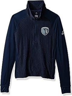 adidas MLS Logo Driven 2.5 Heathered Quarter Zip Jacket
