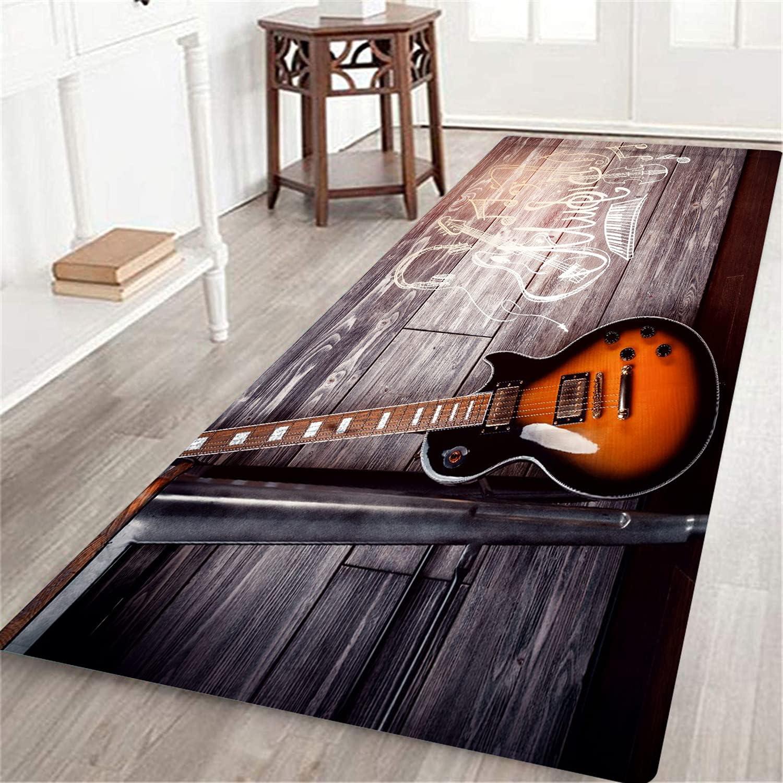 LONSANT Long Floor Mat Music Theme Wooden Guitar Hom in Electric 5 popular Bargain sale