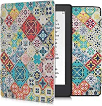 kwmobile Case Compatible with Kobo Aura H2O Edition 2 - PU e-Reader Cover - Moroccan Vibes in Multicolor Blue/Red/Light Brown