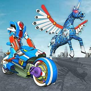 Robot Unicorn Bike Transform Battleground Royale