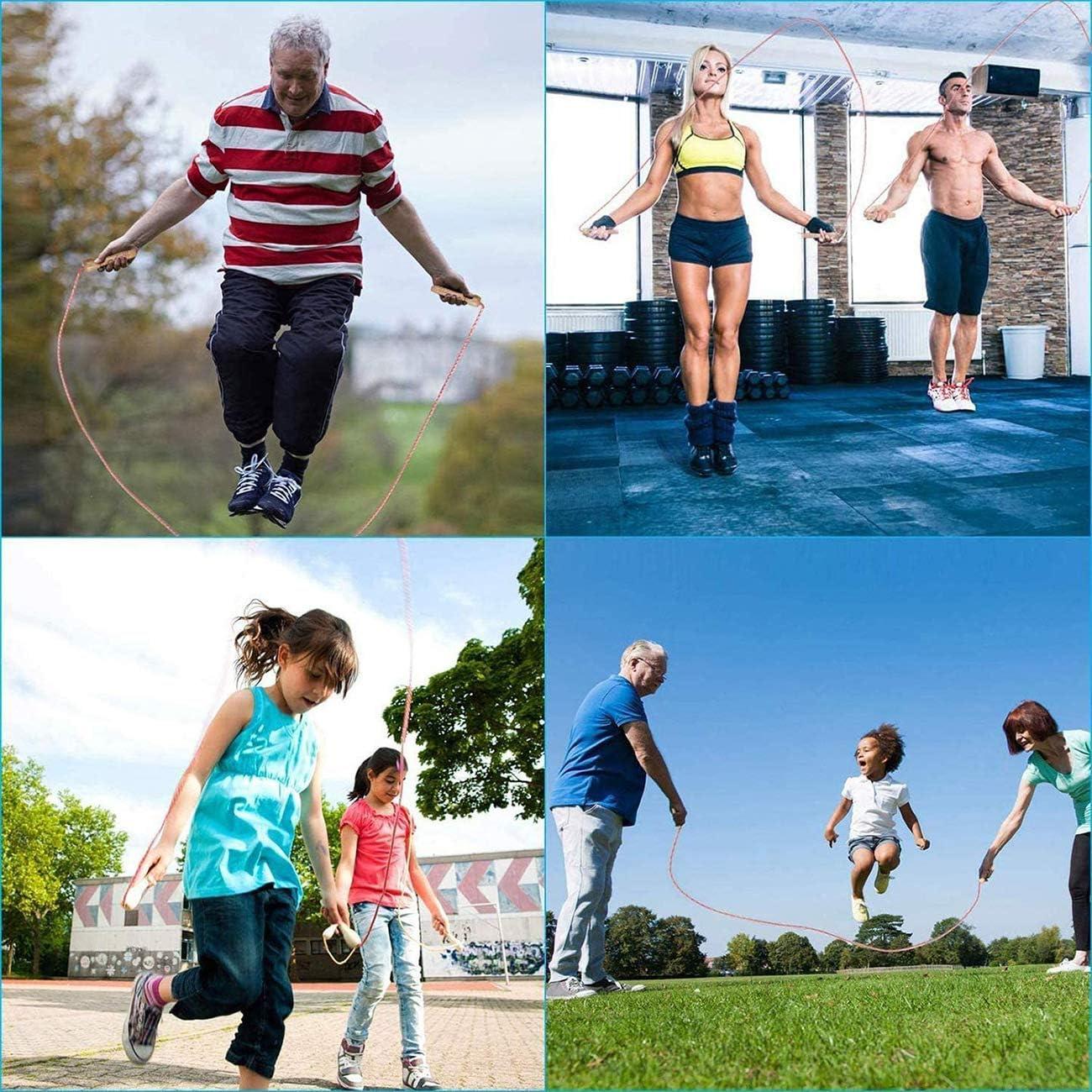 Sport Training Springseil,L/änge Einstellbar,Komfortablen /& Anti-Rutsch Griffen Abnehmen,Kinder Baumwolle Seilspringen,Skipping Rope Fitness f/ür Kinder und Erwachsene,f/ür Crossfit
