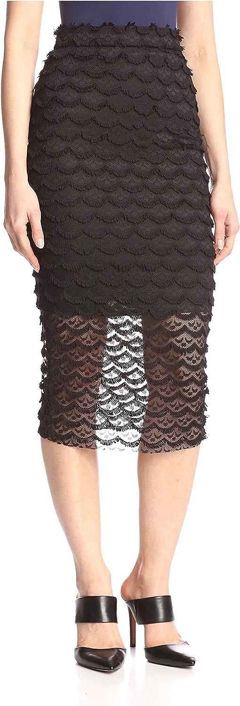 Allison Collection Women's Eyelash Lace Midi Skirt