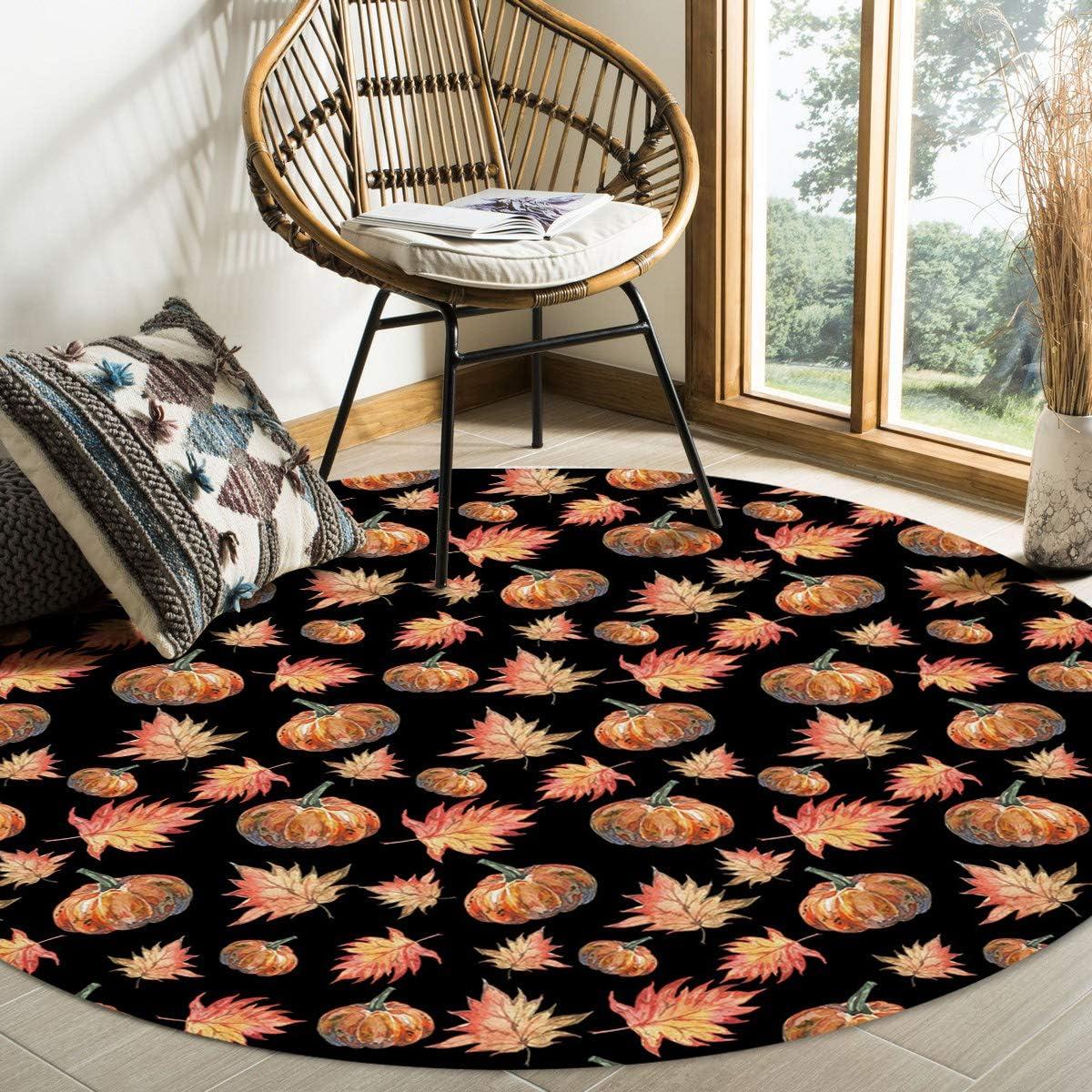 Womenfocus Inventory cleanup selling sale 4 Ft Round Soft Carpet Kids En Non-Shedding Girls for OFFer