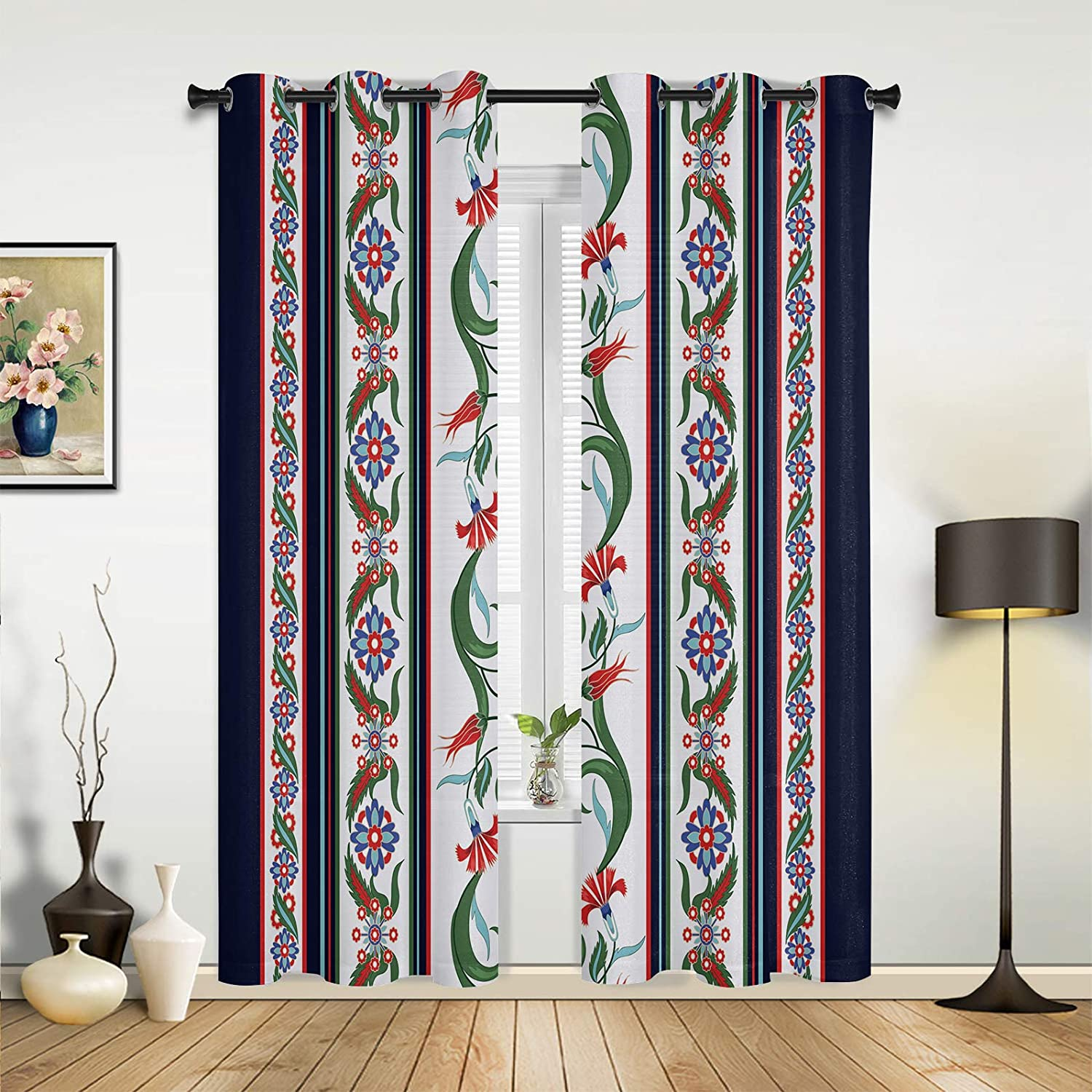 Window Sheer Curtains for 5 ☆ very popular Beauty products Bedroom Flo Retro Living Room Gorgeous