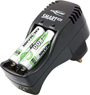 ANSMANN Smart Eco Charger Set   For charging AA & AAA rechargeable batteries   with 4 x AA NiMH 800 mAh capacity batterie...