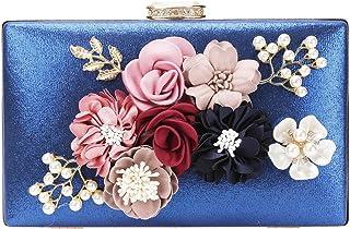 chuangminghangqi Damen Clutch Abendtasche Hochzeit - Handtasche mit Blumen Hochzeit Braut Geldbörse 20 * 12 * 3 cm