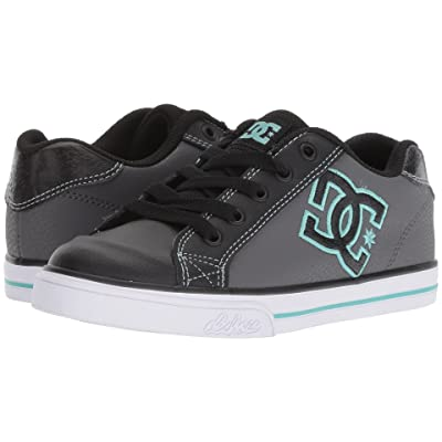 DC Kids Chelsea (Little Kid/Big Kid) (Black/Aqua) Girls Shoes